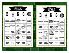 Enjoy people-watching? Introducing our newest BINGO game from the shop! To celebrate you next Bar/Pub Crawl, bring these BINGO cards with you! There are 30 cards consisting of typical events that may happen at a bar.
