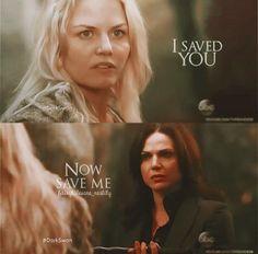 "Emma to Regina : ""I saved you, now save me"" 5 x 01"