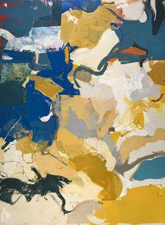 2011 Blue Green Descending - oil canvas - 144 x 105 - Malcolm Bray
