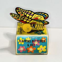 wind up toys +unusual toys | Yone Flapping Butterfly Wind-upmint in box from artfultoysandantiques ...