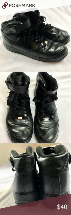 NIKE AIR FORCE 1 BLACK Amazing condition. Worn a couple times. Men's size 11  MSRP $95 ***1st PIC IS FOR STYLING PURPOSES ONLY***  AIR JORDAN RETRO KICKS Nike Shoes Sneakers