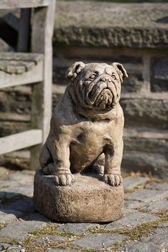 Petey cast stone dog statue made by Campania International