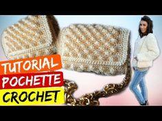 Tutorial pochette punto nocciolina uncinetto | Crochet bag || Katy Handmade - YouTube