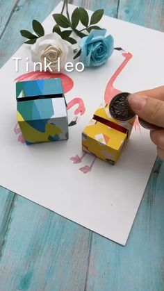 DIY Mini Coin Piggy Bank - Basteln - Saving is a kind of good habit! Use paper to make the mini coin piggy bank, store the pocket money. Diy Crafts Hacks, Diy Crafts For Gifts, Diy Home Crafts, Diy Arts And Crafts, Crafts For Kids, Diy Projects, Stick Crafts, Instruções Origami, Paper Crafts Origami