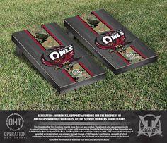 Temple University Owls Operation Hat Trick Camo w/ Stripe Bag Toss Set