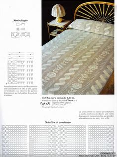 Crochet, vintage and filet work bedspread ♥LCB♥ with diagrams