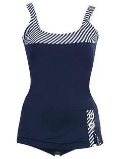 1 PC. Missy Junior Retro Navy Swimsuit $32.99