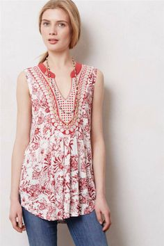 Anthropologie Printed Porcelain Tank Sz XS L Size New Top Blouse 0 2 12 14 | eBay