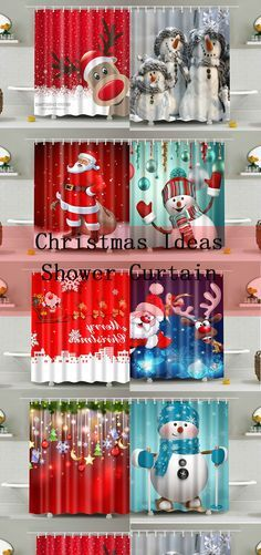 Christmas shower curtains Christmas Projects, Winter Christmas, All Things Christmas, Christmas Home, Christmas Ideas, Merry Christmas, Holiday Crafts, Holiday Fun, Christmas Shower Curtains