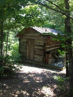One of the log cabins located at YesterYear Mississippi