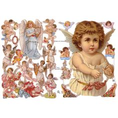 Victorian Die Cut of Angels