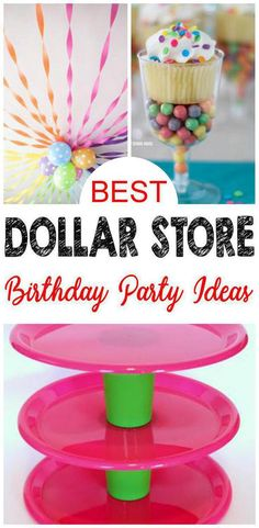 9 Dollar Store Birthday Party Ideas EASY Hacks And DIY Crafts For The BEST Supplies Decorations Cupcake Stands Centerpieces