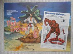 Thief of Baghdad/Spiderman Strikes Back, Original Combo UK Quad Film Poster, '78  Our Price: £35.00