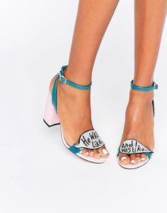 Slogan Glitter Heels