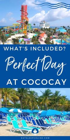 What's Included on Perfect Day at CocoCay, Bahamas - If you are visiting Royal Caribbean's private island in the Bahamas, find out all the details on What's Included on Perfect Day at CocoCay. Packing List For Cruise, Cruise Tips, Cruise Travel, Cruise Vacation, Bahamas Excursions, Bahamas Cruise, Shore Excursions, Navigator Of The Seas, Cruise Planners