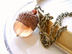 Acorn Necklace - Fall Jewelry