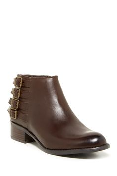 Cyan Leather Ankle Bootie - Wide Width Available by Franco Sarto on @nordstrom_rack