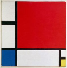 Composition II in Red, Blue, and Yellow - Piet Mondrian, 1930