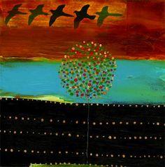 """Falcon Friends""  by Flora Bowley"
