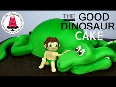 The Good Dinosaur is an adorable new Pixar movie. So today I am showing you how to make a 3D dinosaur cake laying down. This cake is made out of cake, butter...