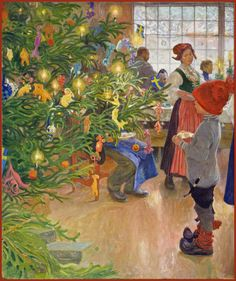 "Carl Larsson ""Now It's Christmas Time Again"" (detail) 1907"
