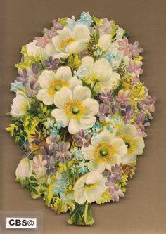 Voorjaarsboeket met maartse viooltjes poezieplaatjes 5089