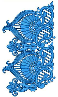 Selwar Embroidery Design