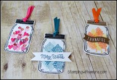 Stampingwithamore: Tags Tuesday Jar of Love Tags Video