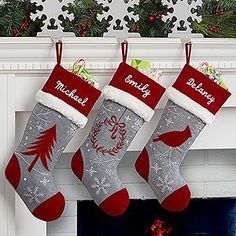 Image result for embroidered xmas stockings