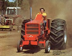 Truck And Tractor Pull, Tractor Pulling, Big Tractors, Vintage Tractors, Truck Pulls, Allis Chalmers Tractors, Steam Engine, Heavy Equipment, Full Pull