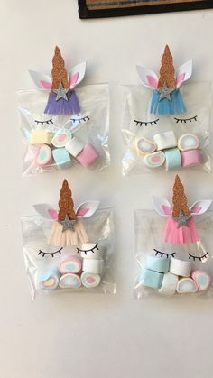 25 Cool Unicorn Party Ideas for Kids Unicorn Party Favor Bags with multi color marshmallows. How cute are those rainbow treats! 25 Cool Unicorn Party Ideas for Kids Unicorn Party Favor Bags with multi color marshmallows. How cute are those rainbow treats! Diy Unicorn Birthday Party, Birthday Party Decorations, Birthday Ideas, Food Decorations, Unicorn Party Favours, Birthday Month, Rainbow Unicorn Party, Birthday Celebration, Birthday Crafts