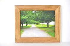 8 x 10 Solid Oak Picture Frame Handmade in by EarlyAmericanShop, $30.00