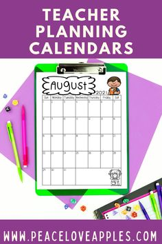 Perfect for your teacher planner! Use these calendars to map out teaching units, special events, important meetings and more.