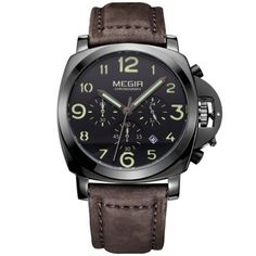 Cheap watch, Buy Quality watch choice directly from China watches simple Suppliers: JEDIR Military Quartz Watch Men Chronograph Luminous Wristwatch Fashion Leather Waterproof Sport Watch relogio masculino relojes Modern Watches, Casual Watches, Luxury Watches For Men, Cool Watches, Wrist Watches, Unique Watches, Elegant Watches, Men's Watches, Mens Sport Watches
