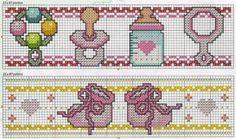 Graficos ponto cruz bebé - Imagui