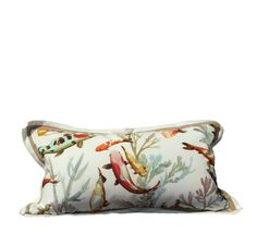 A fresh and colorful Outdoor pillow from SOHIL Design Milano