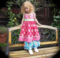 Girls No Buttonhole Knot Dress or Top, 6-12 M to 8