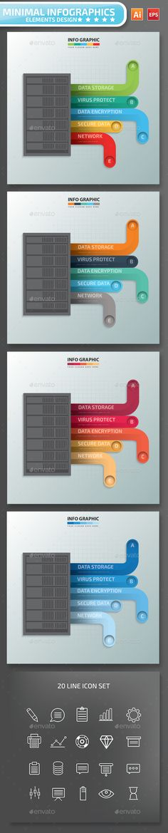 Minimal Data Server infographic Design