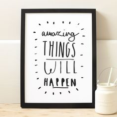 Amazing Things print - typography print | Old English Company