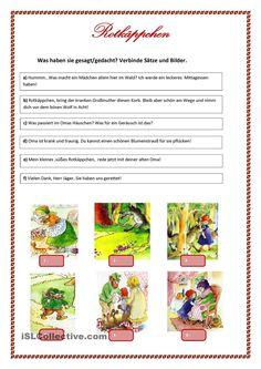 Rotkäppchen - Sätze und Bilder