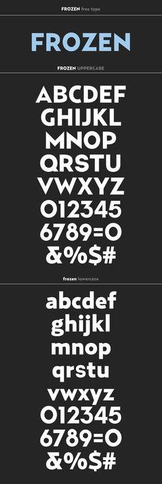 Frozen free type by Ricardo Veloso, via Behance