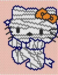 Mummy Hello Kitty bead pattern