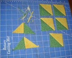 Really Easy Half Square Triangle Blocks