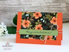 Stampin' Up! UK - I have a super quick card for you today that is a 'whole lot of lovely'! Come and see and shop for all your new Stampin' Up! products too!