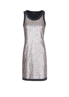 MANGO - Sequined cotton dress