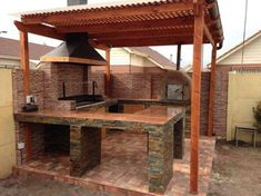 best Ideas pergola de madera puerta Even though early inside thought, this pergola may Outdoor Kitchen Patio, Outdoor Oven, Outdoor Kitchen Design, Outdoor Cooking, Outdoor Living, Parrilla Exterior, Outdoor Barbeque, Backyard Patio Designs, Wooden Pergola