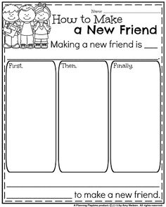 Back to School Informative Writing Prompt - How to Make a New Friend