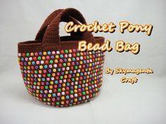 Crochet Tutorial - Pony Bead Tote Bag - YouTube