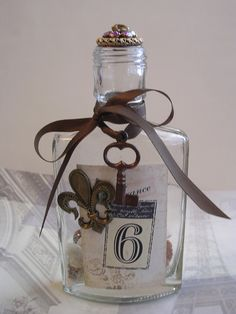vintage decorated bottles - Google Search