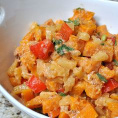 Butternut Squash Salad - I'm thinking equally yummy with mango and/or apple instead of the pineapple.